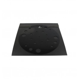 1877PHONO Rubber Mat Support absorbant Silicone pour vinyles Noir
